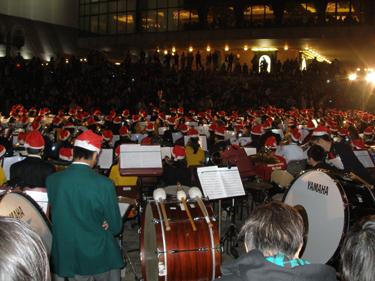 Massed school orchestra
