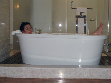 Sheila takes a bath