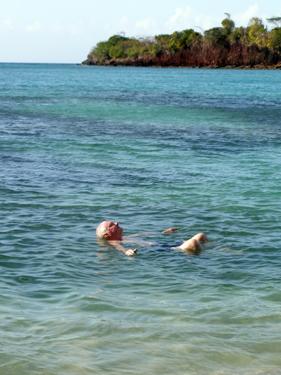 Derek swimming