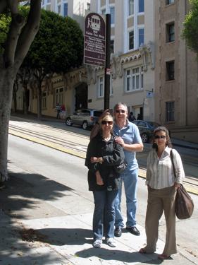 Shari, Allan & Sheila at cable car stop