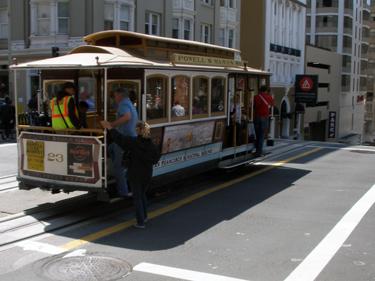 Allan & Shari board cable car