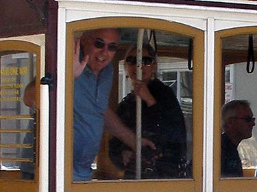 Allan & Shari wave goodbye