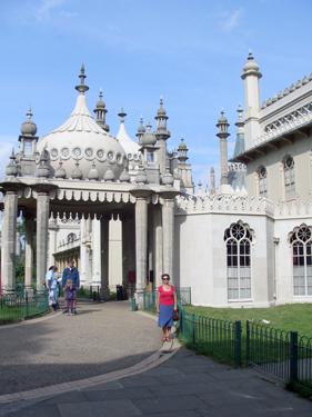 Sheila at Brighton Pavilion