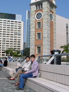 The old clock tower in Tsim Tsa Tsui