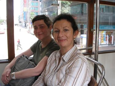 Jade & Sheila on tram