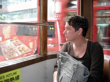 Jade on tram