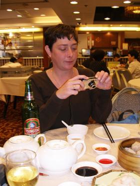 Jade photographing Dim Sum