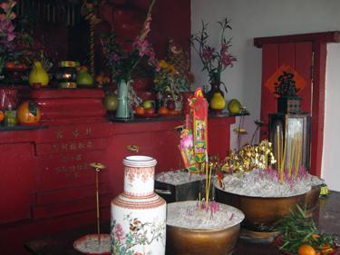 Inside Taoist temple