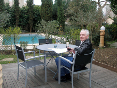 Derek in garden