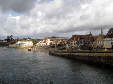 View of town from bridge