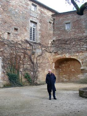 Derek in courtyard