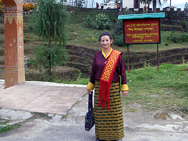 Formal dress for the Dzong