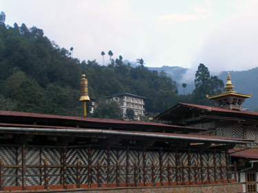 Our hotel above the dzong