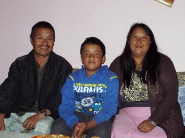 Karma with son & wife