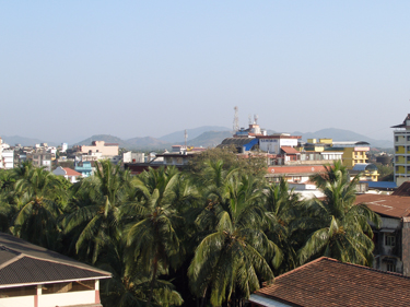 view towards the western Ghats