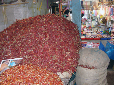 pile of chillies