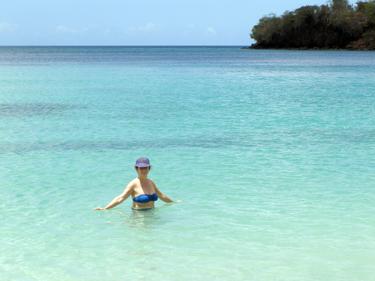 Sheila in the sea