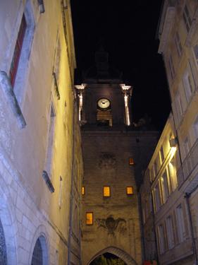The Big Clock at night