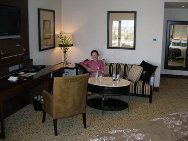 Sheila in hoel room