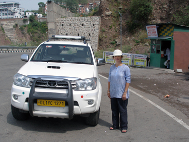 Sheila with car