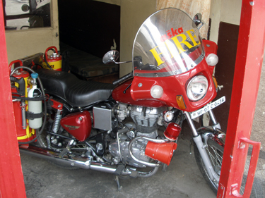 Fire service motorcycle