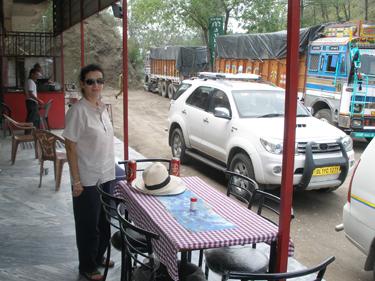 Sheila at truck stop restaurant