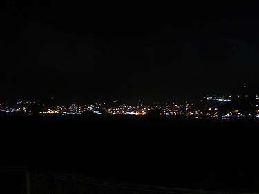 Lights across Grand Anse bay