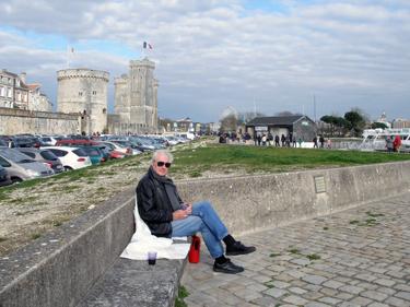 Derek on harbourside
