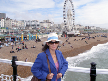 Sheila on the pier