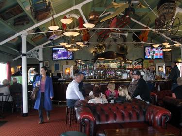 Sheila in the pier's Victoria Bar