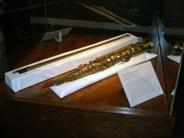 Sidney Bechet's saxophone