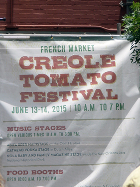 Sign for the Creole Tomato festival