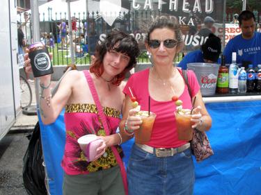 Jade & Sheila with refreshments