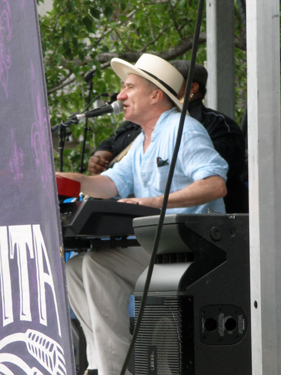 Jon Cleary playing