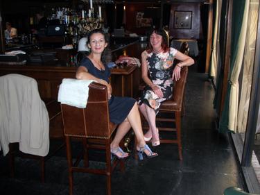 Sheila & Jade at the Bombay Club bar