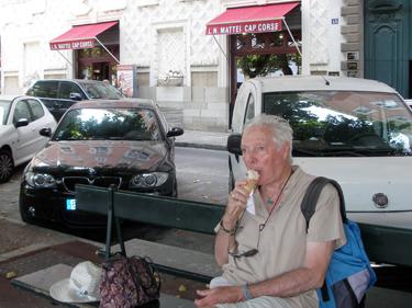 Derek with ice cream