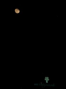 Full moon over hotel