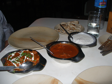 Last dinner in Goa