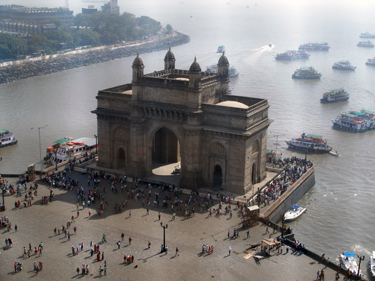 Gateway to India from hotel room