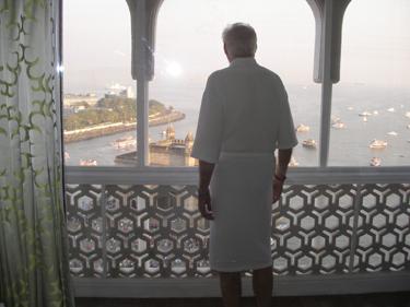 Derek on balcony