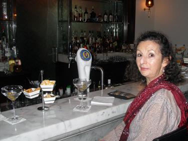 Sheila enjoying a martini