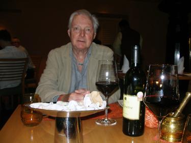 Derek in hotel restaurant