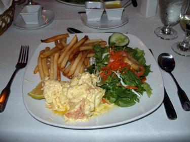 Creamy garlic lobster