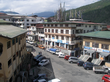 View from Thimphu hotel room