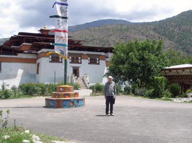 Derek at Simtokha Dzong