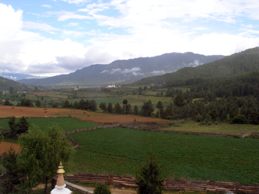 View from hotel in Chume Valley