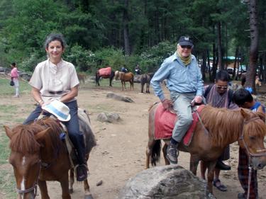 Sheila & Derek on horseback