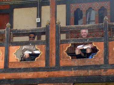 Karma & Derek on balcony