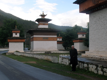 Derek near Paro Dzong