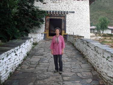 Sheila at Paro Dzong